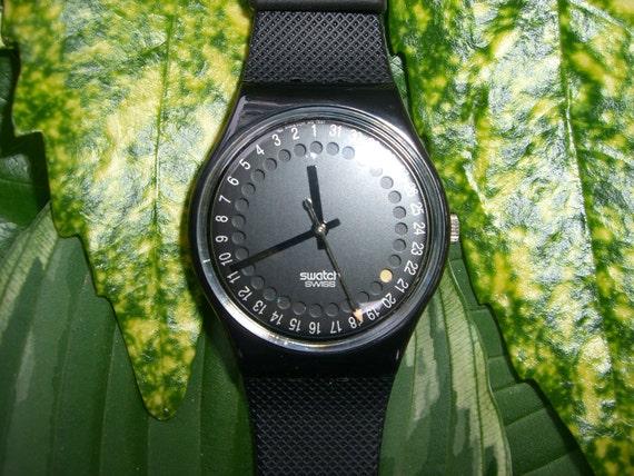 Vintage Swatch Watch 1991 Spot Flash GB414..Mans size watch