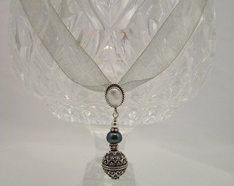 Pearl & Sterling Silver Necklace 023FD