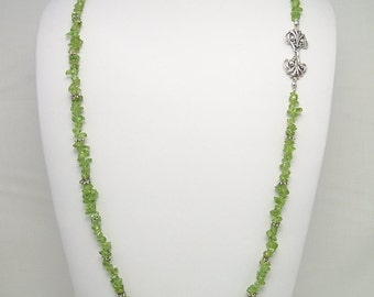 Peridot & Sterling Silver Necklace Set 194S