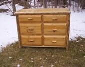 Rustic Northern White Cedar Six Drawer Dresser