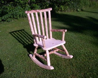 Rustic cedar rocking chair
