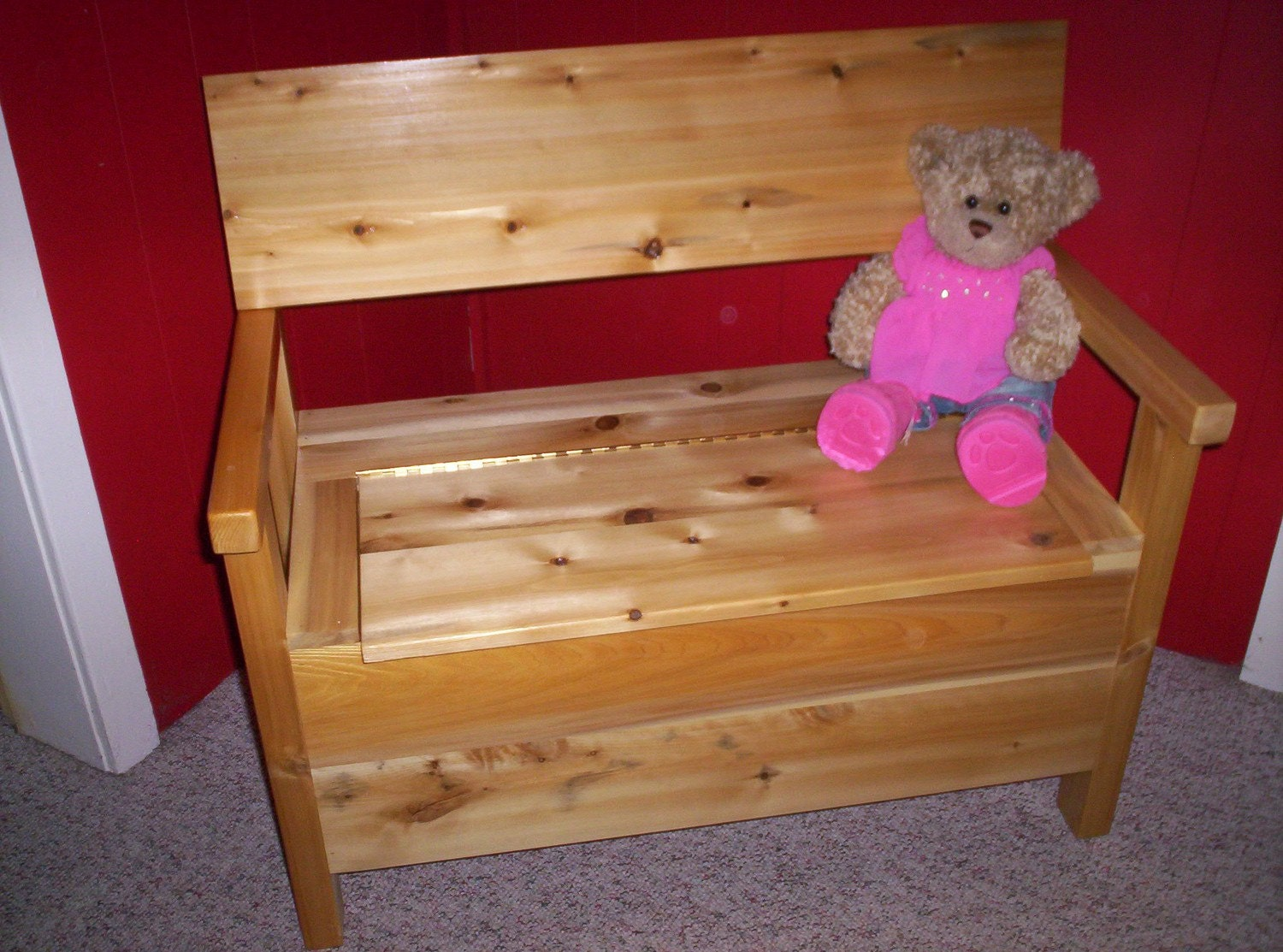 Cedar Toy Box Bench