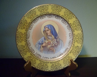 Homer Laughlin / Virgin Mary / Collectible Plate / Religious / Catholic / Blessed Virgin Mary