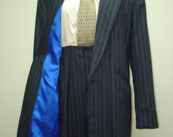 1940's Zoot Suit Replica, Pinstriped - Full Costume: Includes Suit, Shirt, Tie, Suspenders, Fedora