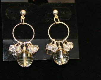 Yellow Faceted Quartz Earrings