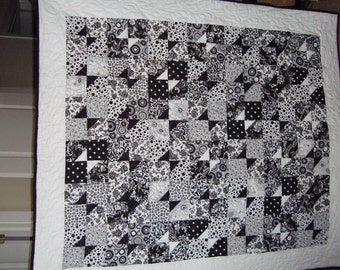 Quilt-Black and White Bow Tie