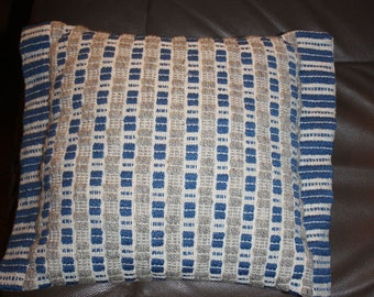Handwoven Wool and Cotton Pillow