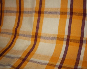 1950's Vintage Plaid Tablecloth