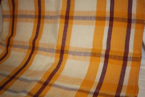 1950's Vintage Plaid Tablecloth