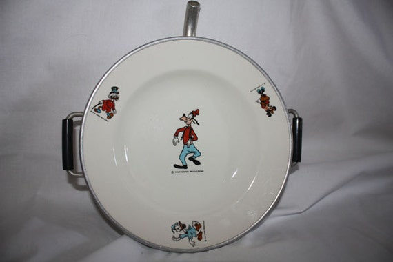 1970s Disney Childrens Warming Dish