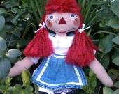 Raggedy Ann from Upcycled Materials