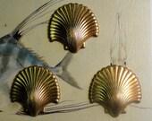 Vintage Scallop Shells (3 pc )