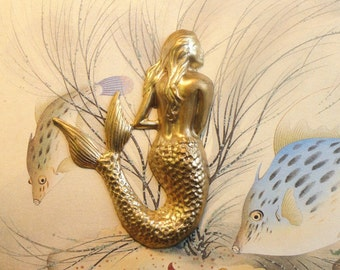 Brass Mermaid  (2 pc )
