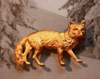Vintage Fox Stamping ( 2pc)