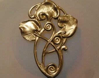 Art Nouveau Lily Pad Charm  (2pc)