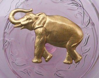 Big Beautiful Brass Elephant (2 pc)