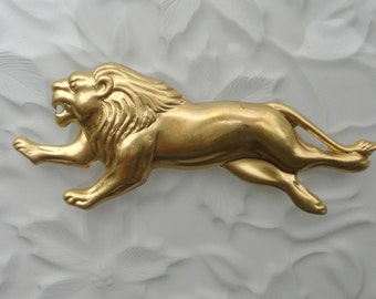 Languid Loping Brass Lions ( 2 pc)