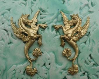 Medieval Winged Sea Horse ( 1 pair)