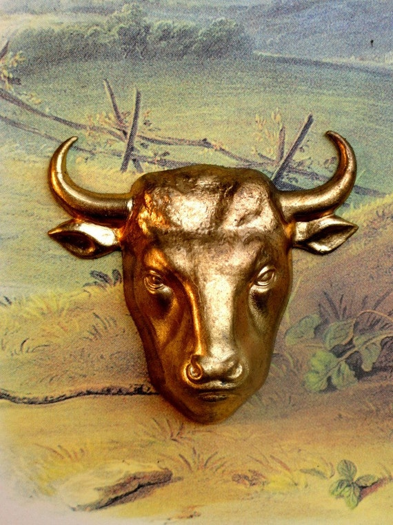 Vintage Bull's Head Made in France
