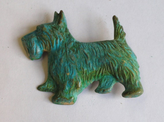 Lovable Scottie Brooch