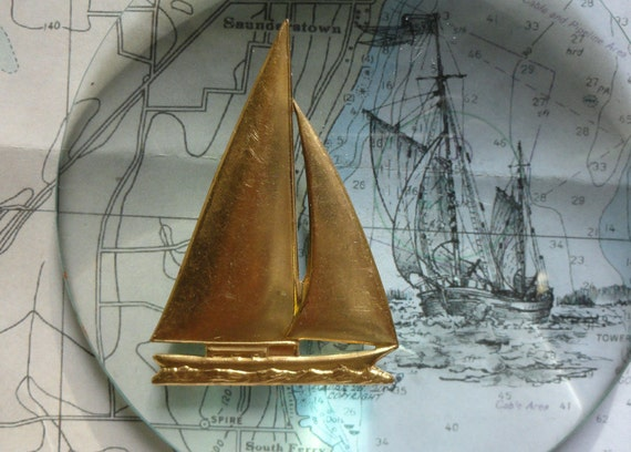 Brass Sloop Sailboat (1pc)