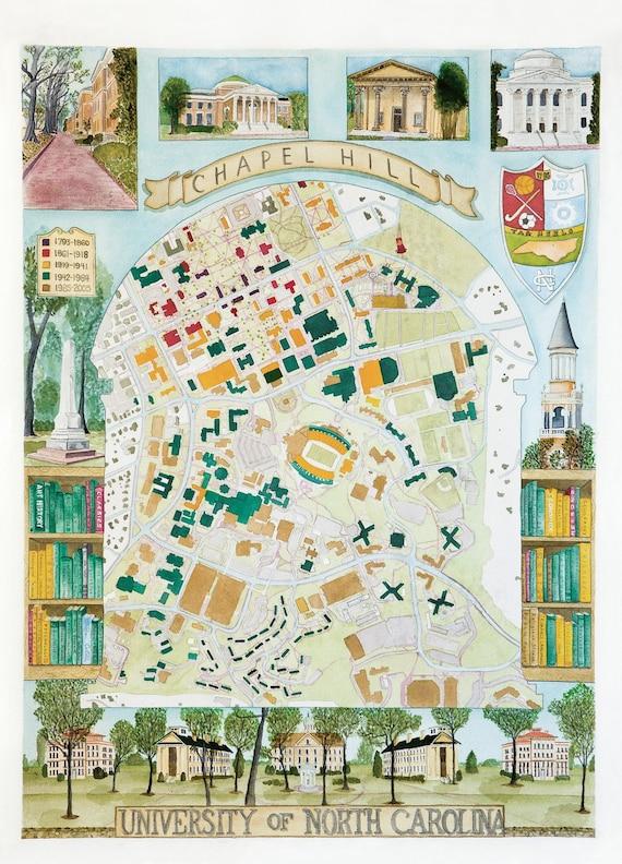 Carolina campus map