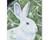 Christmas Bunny Gift Tags, Free Shipping