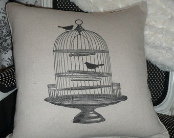 Birdcage Pillow Cover