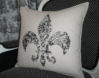 Fleur de Lis Pillow Cover