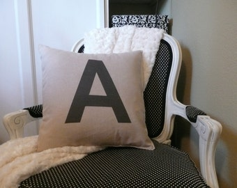 Initial or Number Pillow Cover Personalized at No Extra Cost