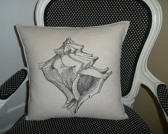 Conch Shell Pillow Cover