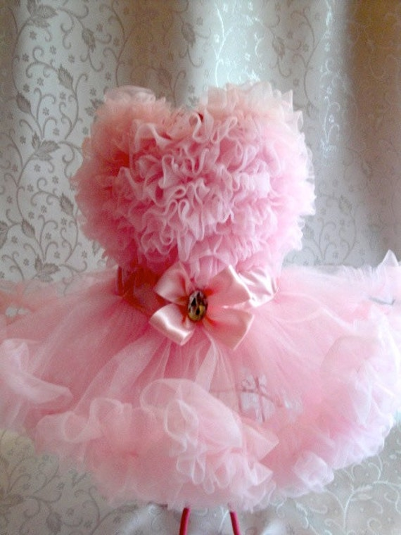 Custom order for Ladytapper - 3 dog tutus with chiffon trim in sizes XS-S