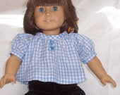 18 inch Doll Clothes American Girl, SEERSUCKER BLOUSE