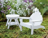 White Adirondack Chair for creating a miniature fairy garden
