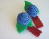 Felt & Ribbon Hair Clips, pair