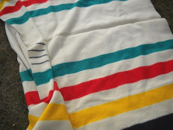Vintage Trapper Point Wool Camp Blanket