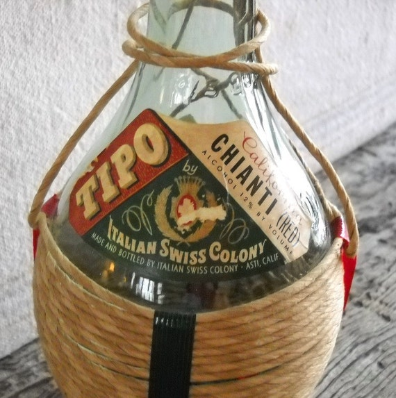 Vintage Tipo Chianti Wine Bottle Italian Swiss Colony