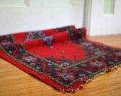Vintage Red Wool Rug