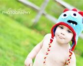 Handmade Newborn Toddler Child Monster Hat Beanie Photography Prop Crochet Custom