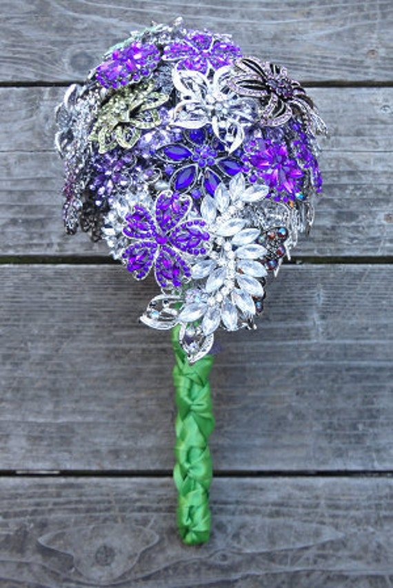 Cascading Brooch Bouquet - Made to Order