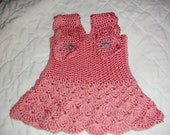 Soft Baby Girl Dress in Peach OOAK Ready to Ship
