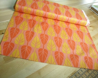 02401 Anthology Fabrics Mod Charm Mod Trees in orange and yellow