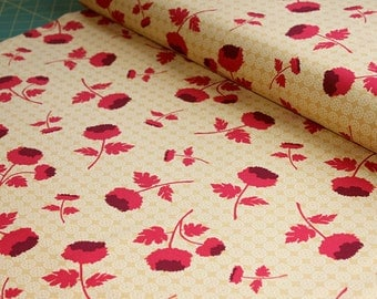 00018 Joel Dewberry Tossed Flowers in Camel - Ginseng Collection Home Dec fabric - 1 yard