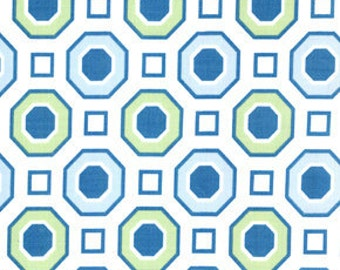 01561 Free Spirit Annette Tatum Little House Collection Honeycomb in ocean color- 1 yard