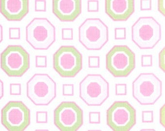 01556 Free Spirit Annette Tatum Little House Collection Honeycomb in pink color- 1 yard