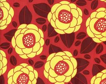 00015 Joel Dewberry Bloom in Raspberry color- Ginseng CollectionHome Dec fabric - 1 yard