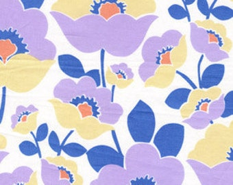 01577 Free Spirit Annette Tatum Fall House 2009 Collection Lilac in Navy color- 1 yard