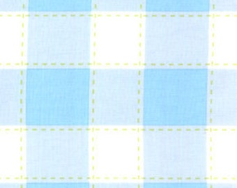01595 Free Spirit Annette Tatum Little House Collection Picnic in blue color- 1 yard