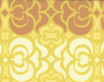 00932 Amy Butler Midwest Modern  Garden Maze in Mustard color - 1 yard