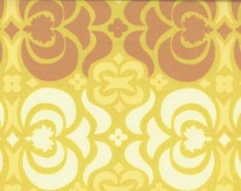 00932 Amy Butler Midwest Modern  Garden Maze in Mustard color - 1/2 yard